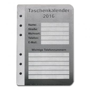 Kalendereinlagen 2021 110mm x 160mm
