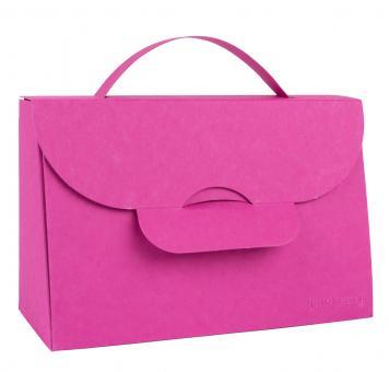 Falt-Artikel Handtasche klein pink