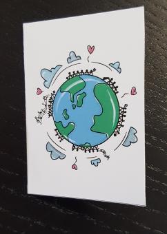 Mini Faltkarte Erdkugel