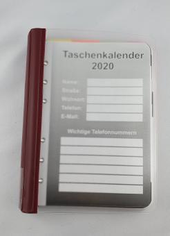 Kalender 2021 im Ringbuch Rot