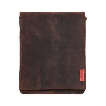 Messenger-Bag / Herrentasche aus geöltem Buffalo-Leder in A4-Format - Extremely rugged Outback Wear Herrentasche dark Muskat