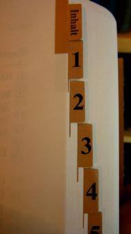 Griffregister für Ältestenbuch zum Einkleben
