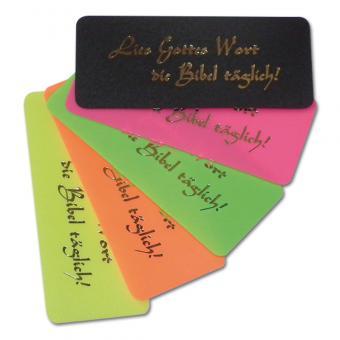 Lesezeichen Kunststoffkärtchen 1 Set (10 Stück) Lies Gottes Wort die Bibel täglich!