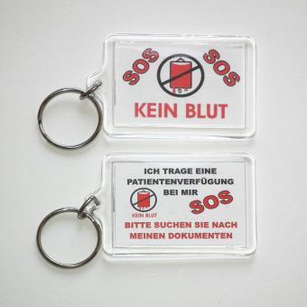 Schlüsselanhänger – KEIN BLUT Deutsch