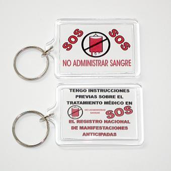 Schlüsselanhänger – KEIN BLUT Spanisch