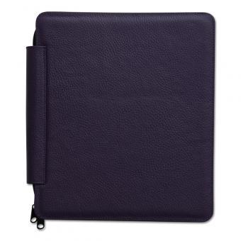 Tablet- Dienstmappe in Leder lila